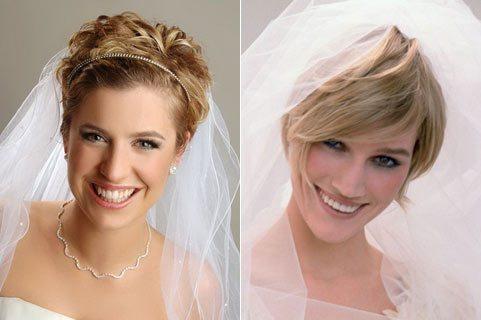 две невесты с фатой