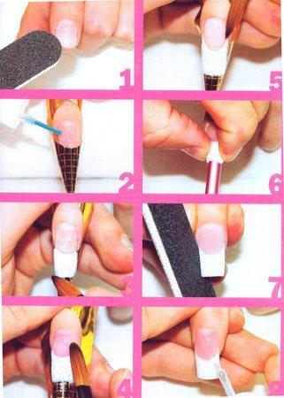 Как дома сделать наращивание ногтей