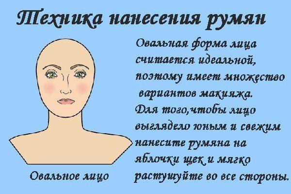 техника для овального лица