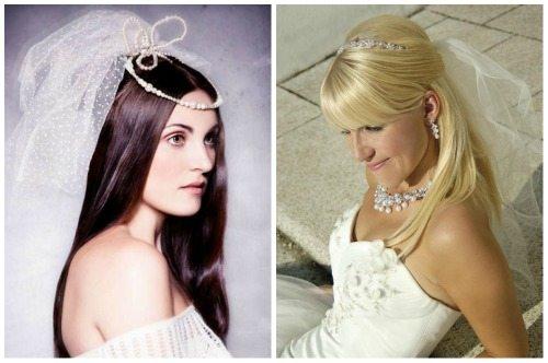 гладкая шевелюра для образа невесты