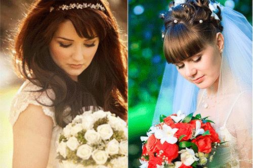 красивые невесты с цветами