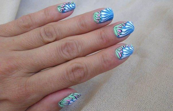эффект 3 d на ногтях