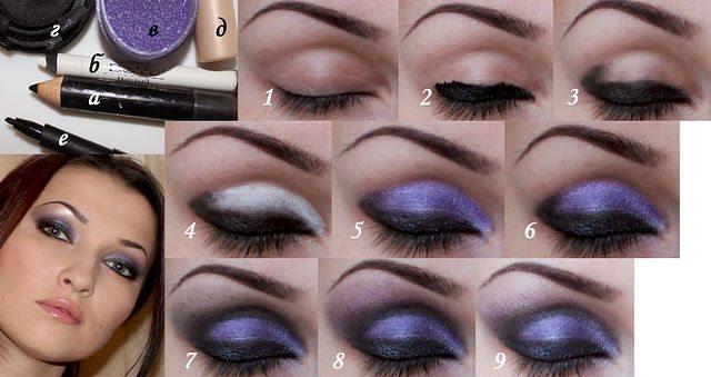 фиолетовый make up