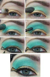 макияж глаз в египетском стиле