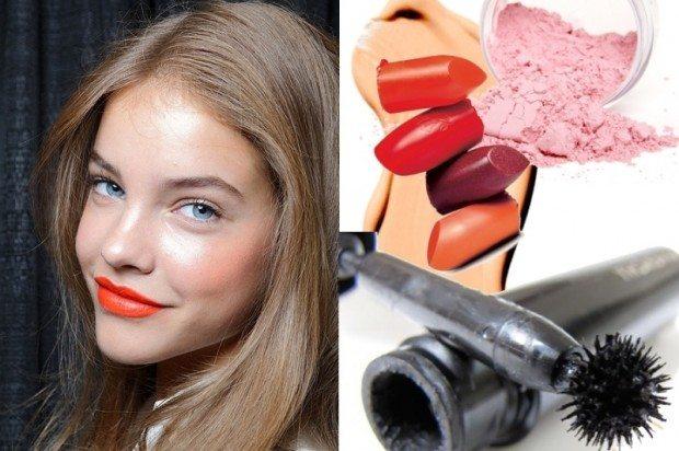 летний макияж с сочными губами