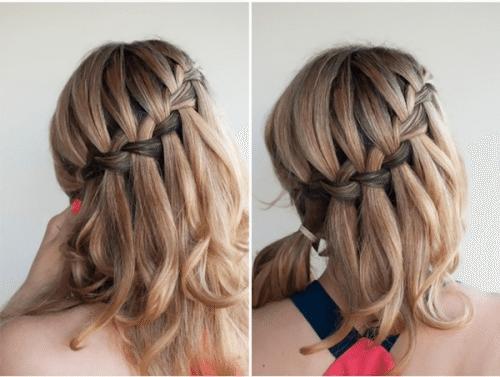 коса на распущенной шевелюре