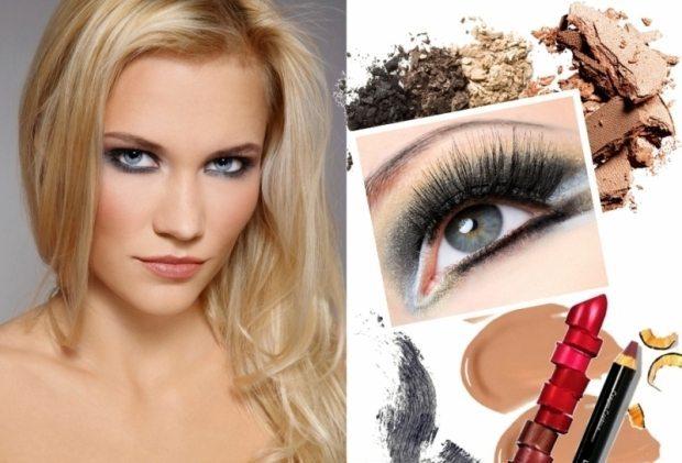 макияж серо-голубых глаз
