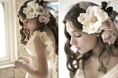 искусственные цветы на голое невесты