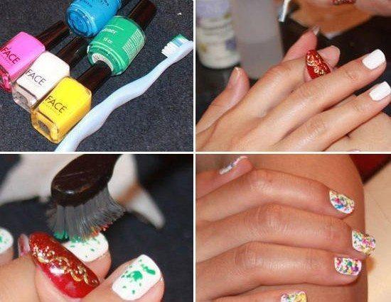 рисунки на ногтях в домашних условиях фото пошагово