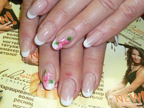 френч с цветами
