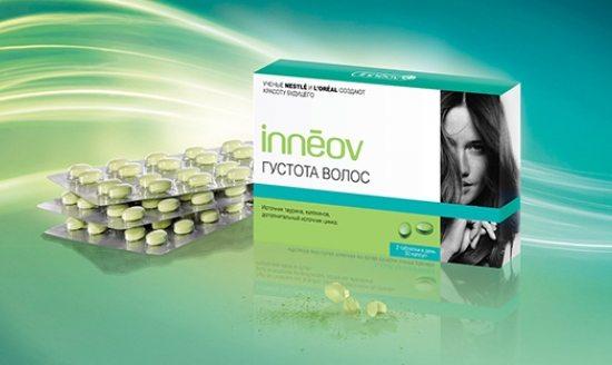 Таблетки Инеов для сильных и густых волос