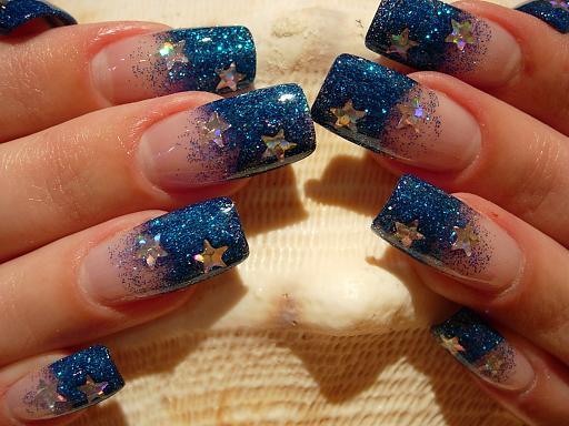синий френч со звездами