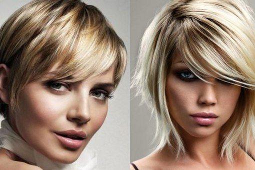 2 короткостриженные блондинки