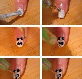 как нарисовать мордочку панды
