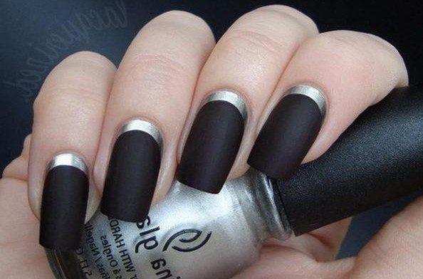 серебристо- черный дизайн