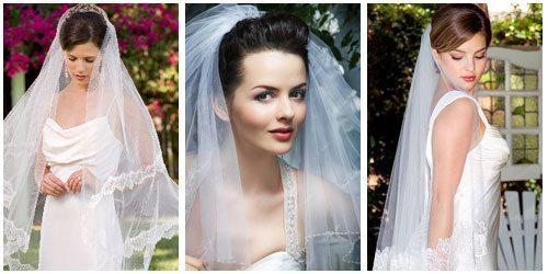 невеста с фатой на макушке