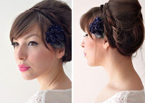 цветок- заколка на голове