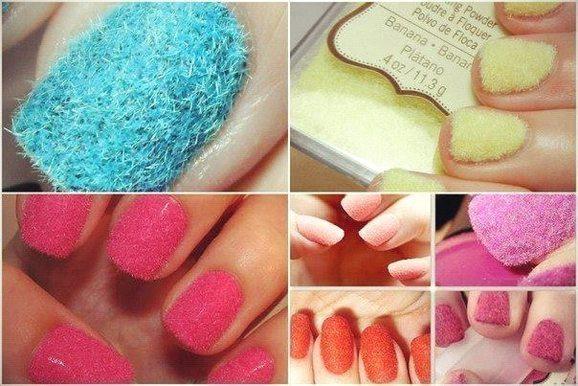 Пушистый дизайн ногтей