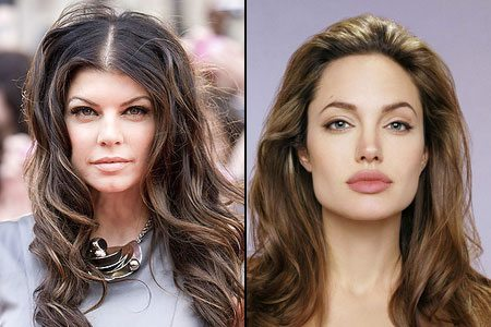 Певица Ферги и Анжелина Джоли