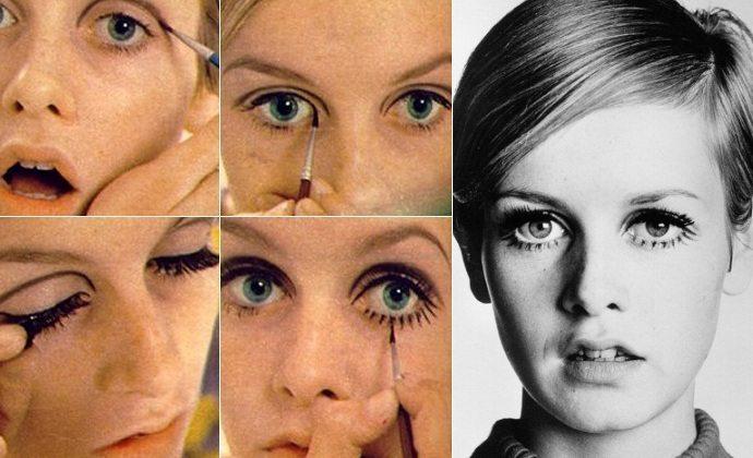 твигги красит глаза
