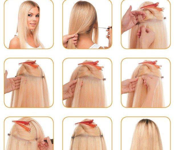 Холодные технологии наращивания волос, топ 6