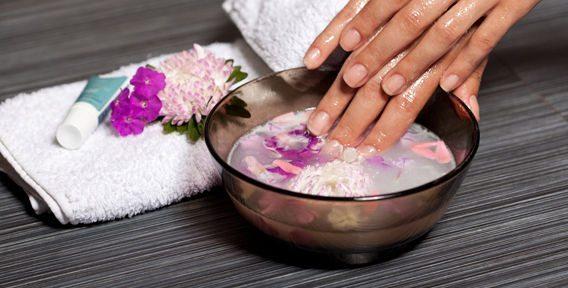 ванночка с цветочным настоем