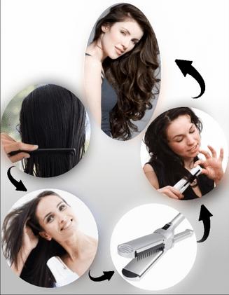 Завить волосы утюжком