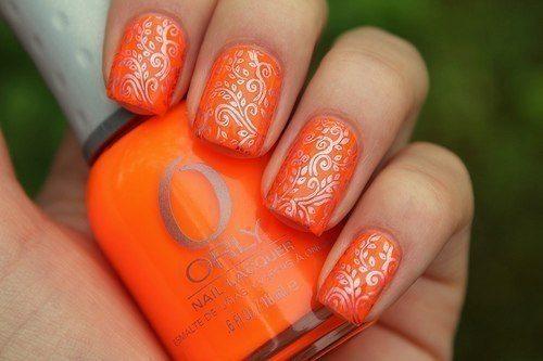 оранжево- серебристый дизайн