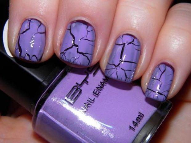 фиолетово- бордовый маникюр