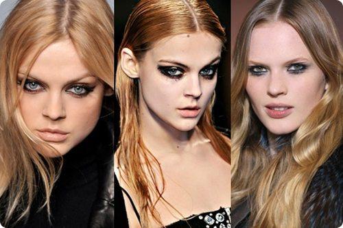 Модели с рок макияжем