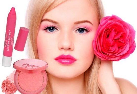 мейк ап в розовых тонах