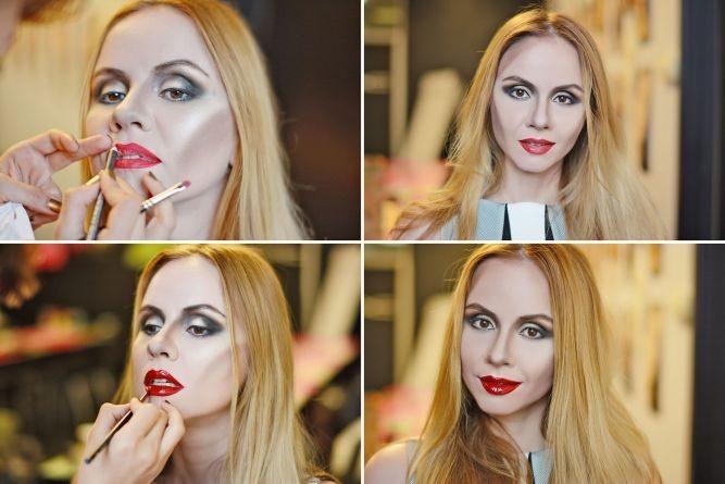 создание макияжа губ