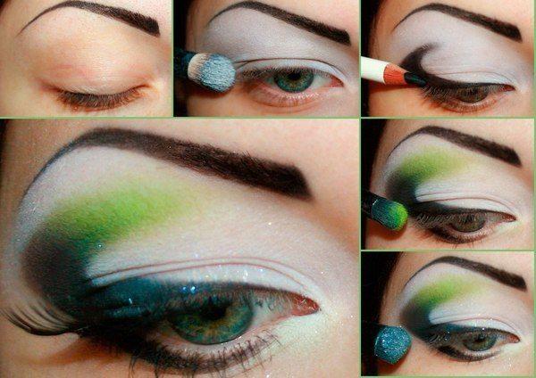make up глаз в зеленых тонах