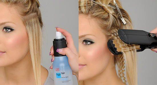 Рифлёные волосы