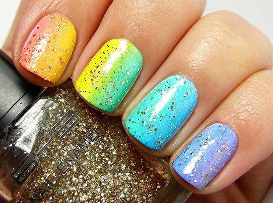 цветное покрытие с блестками