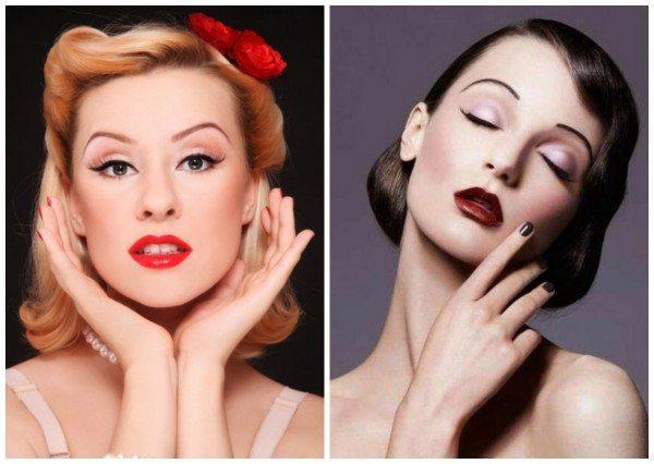 две модели с ретро make up