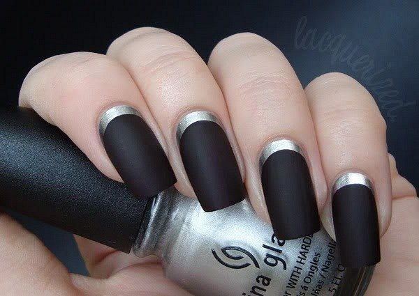 черно- серый френч