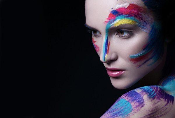 абстрактный макияж