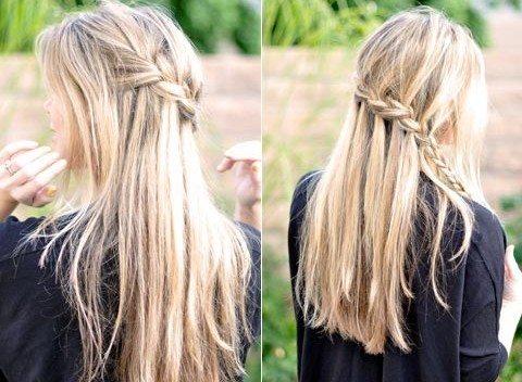 длинная блондинистая шевелюра