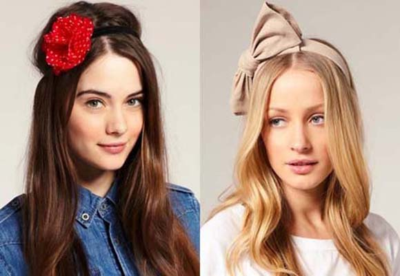 девушки с аксессуарами на голове