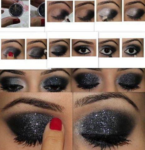темный make up на глазах
