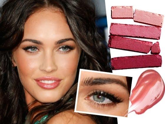 Megan Fox макияж в розовых тонах