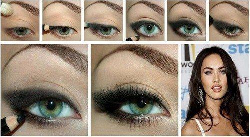 макияж глаз в стиле Меган Фокс