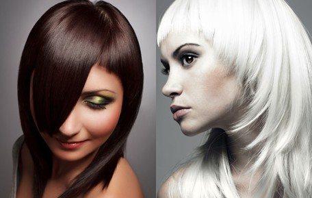 блондинка и шатенка