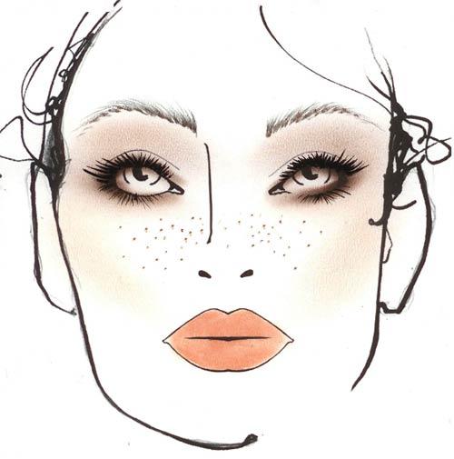 как накладывалась косметика в макияже 70- х