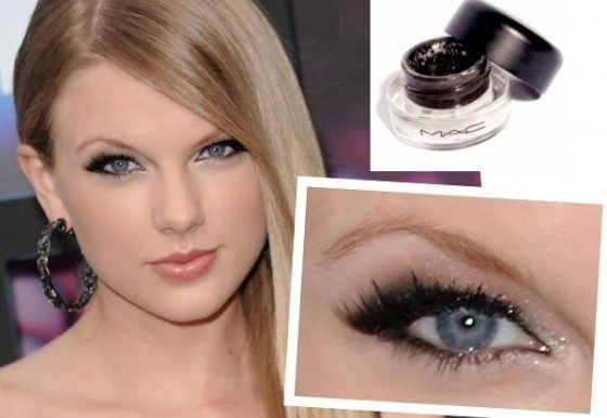 Тейлор Свифт с кошачьим макияжем глаз