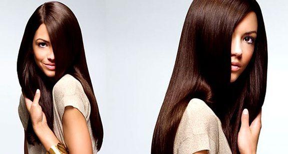 девушка после процедуры биовостановления волос