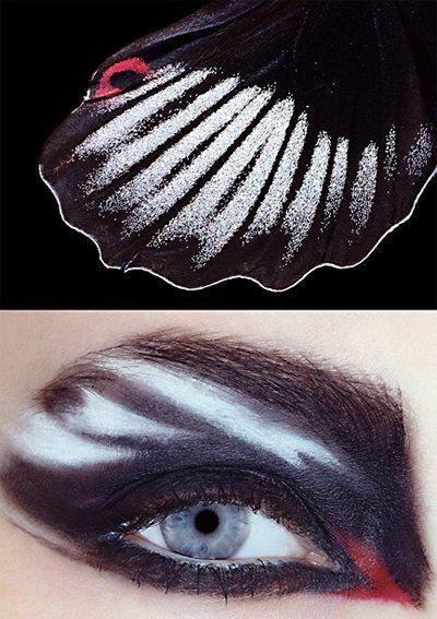 make- up глаз в стиле зебра