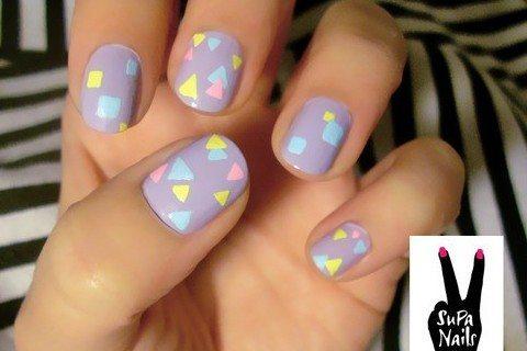 графичный nail art