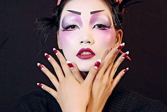 девушка похожая на гейшу